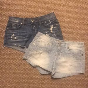 Jean shorts two set bundle(can be sold separately)